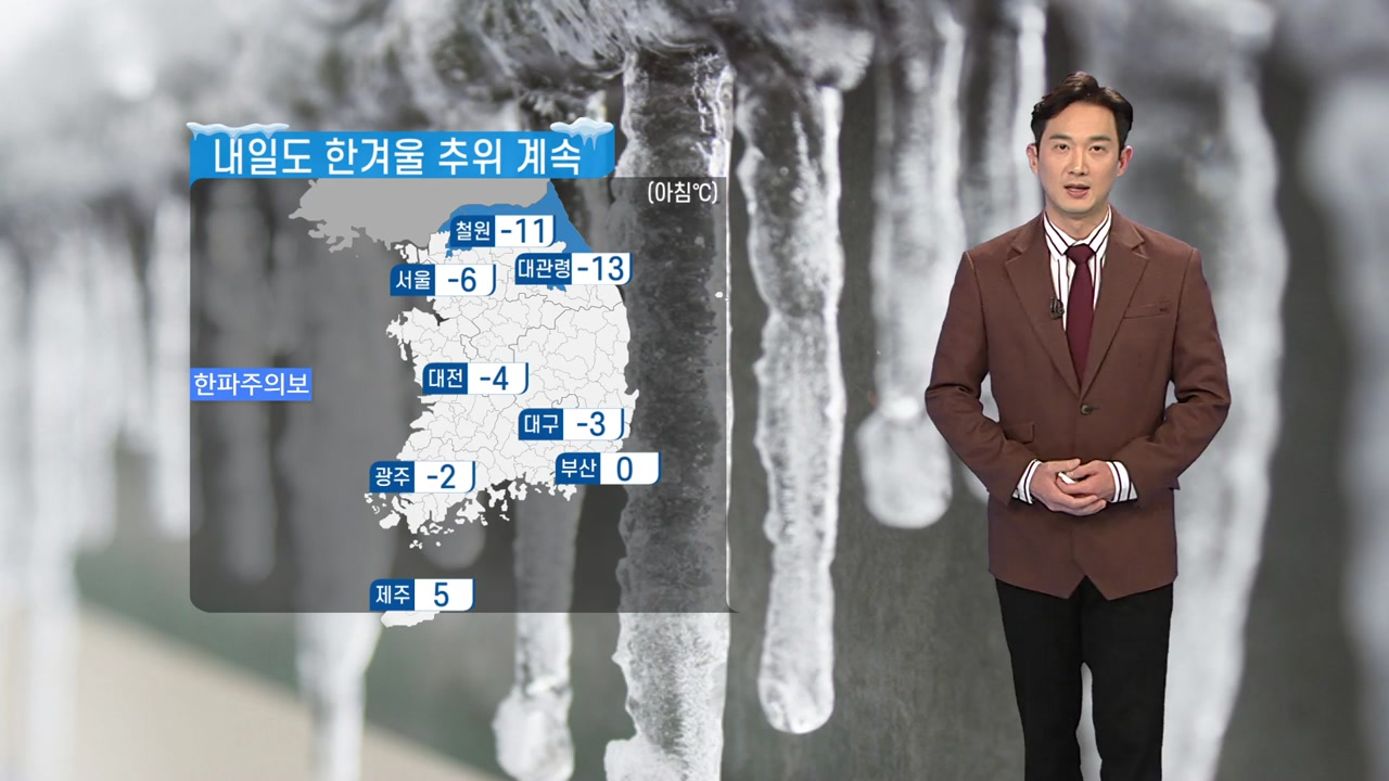 [날씨] 내일도 한겨울 추위 계속...하늘 대체로 맑음