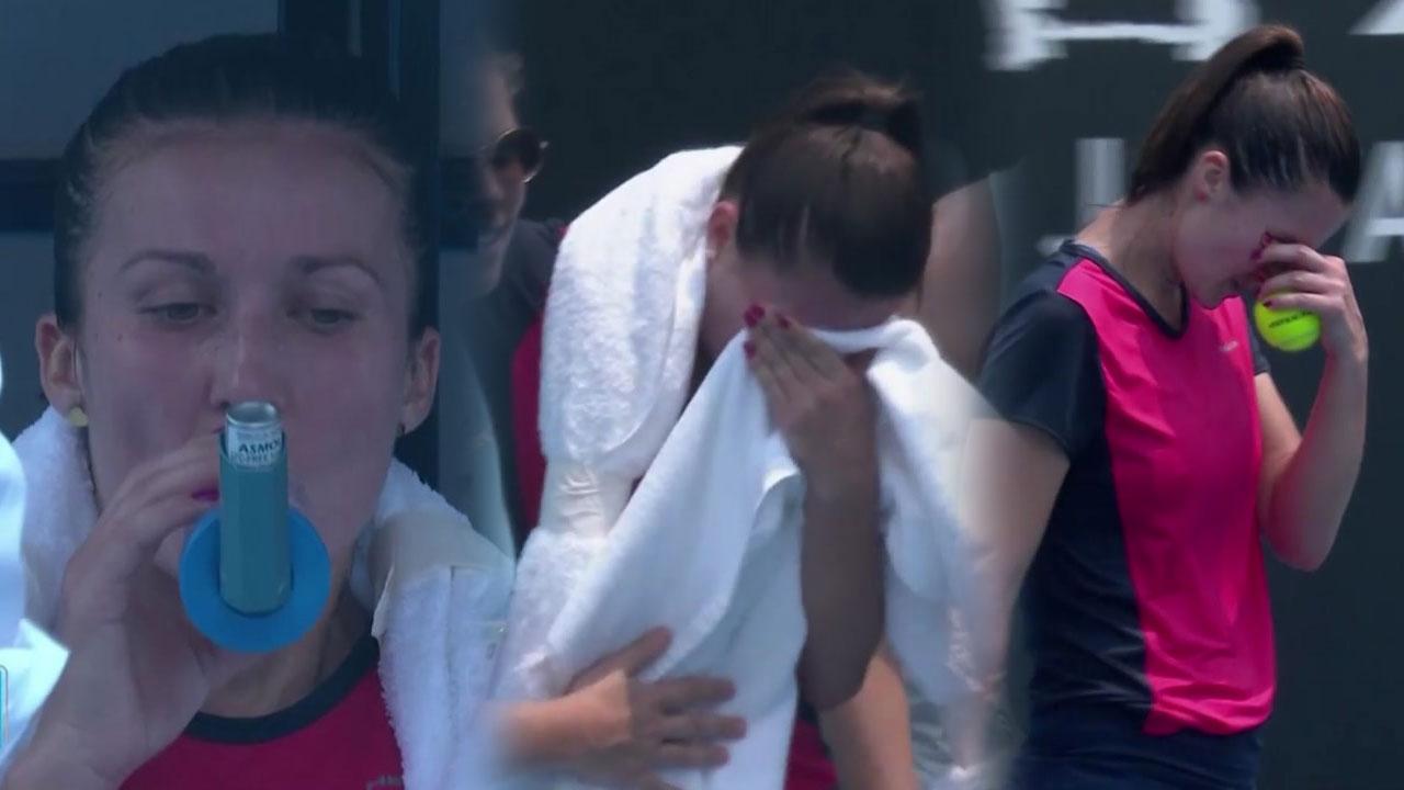 호주 테니스 대회 덮친 산불...선수 '호흡 곤란'까지