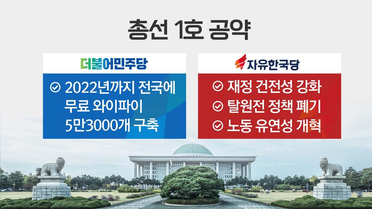 여야, 첫 총선 공약 공개...'변화구' 승부?