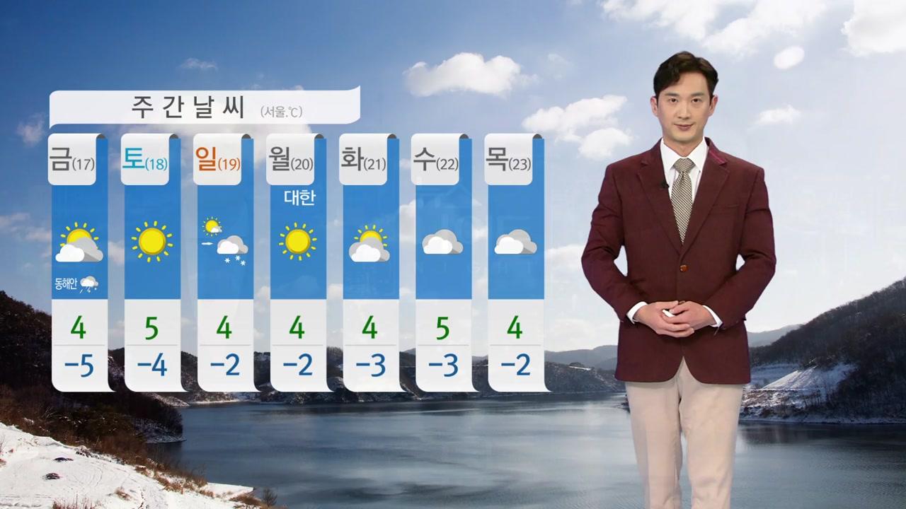 [날씨] 내일도 한겨울 추위 계속...동해안 건조주의보