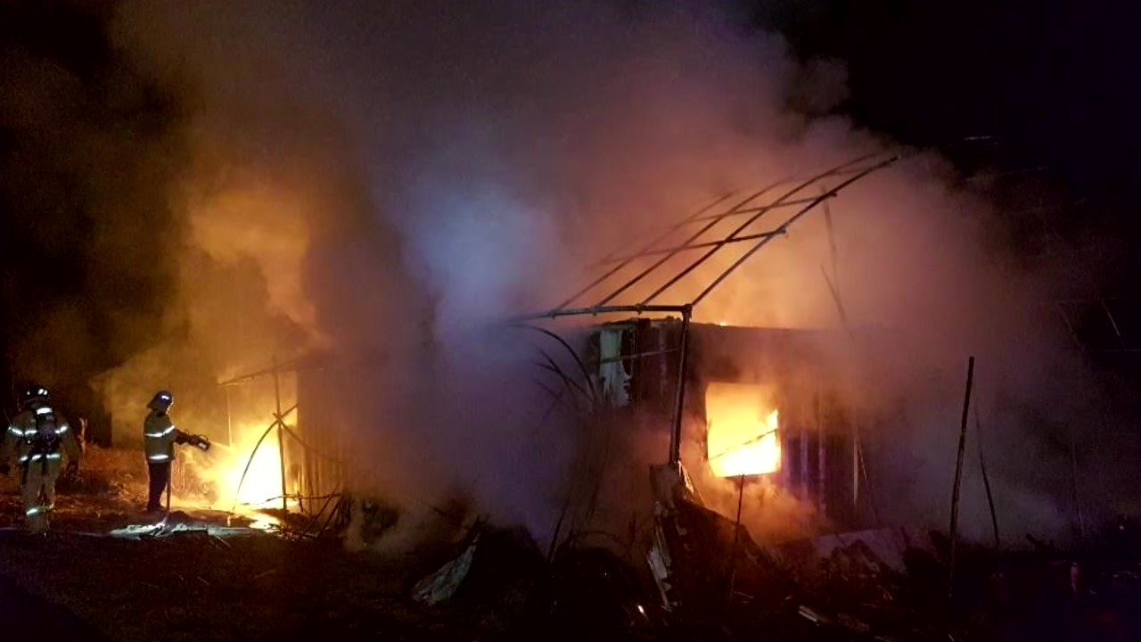 경기 이천 주거용 컨테이너 화재...1명 사망