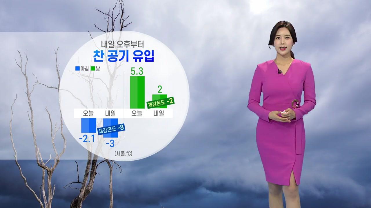 [날씨] 내일 오후부터 찬 공기 유입...체감온도 종일 영하권