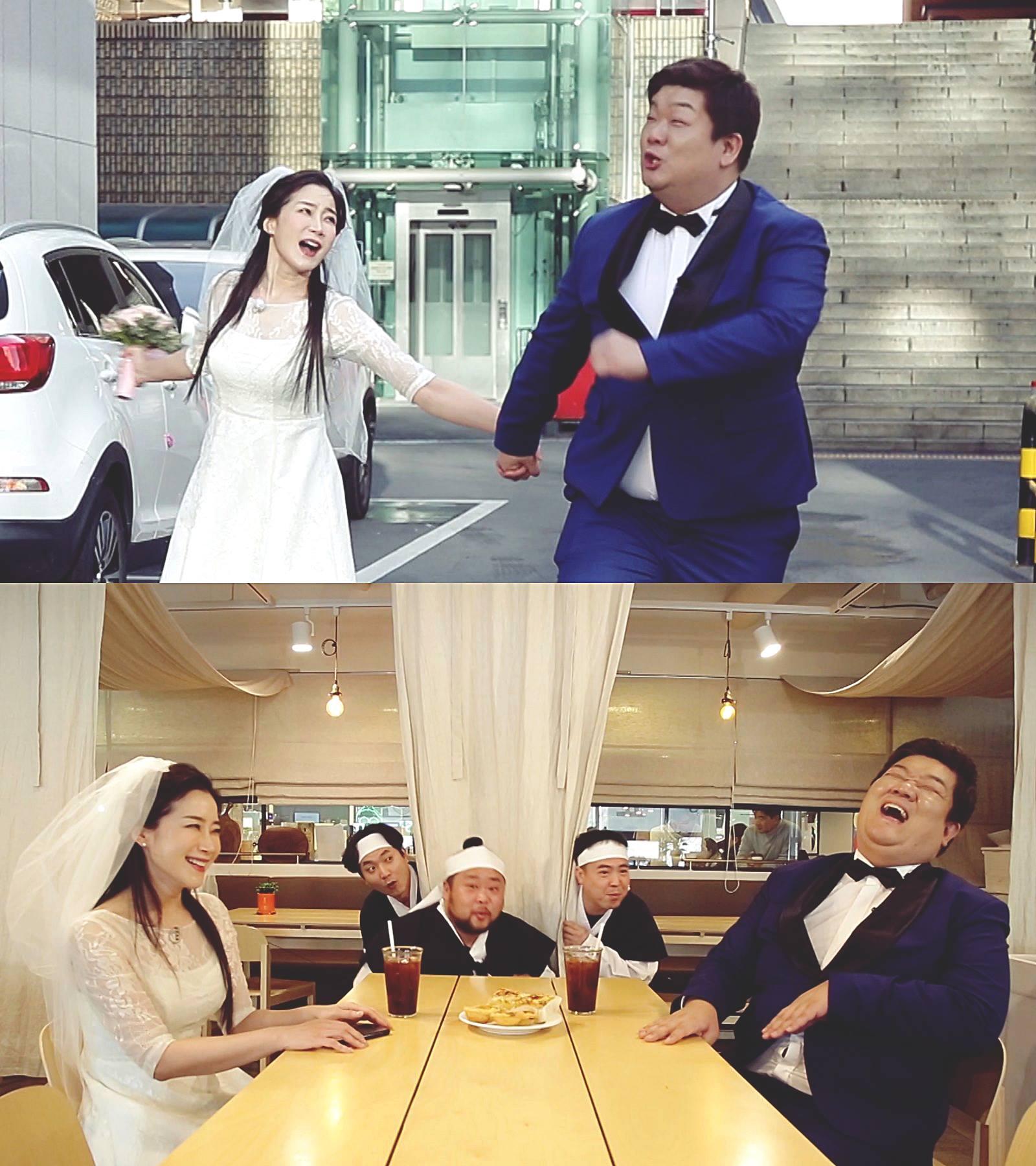 '개콘' 유민상♥김하영, 웨딩화보 촬영→반전 비하인드는?