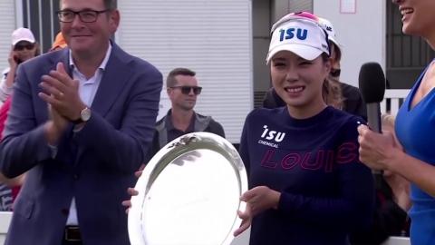박희영, 연장 접전 끝 7년만 의 LPGA 우승