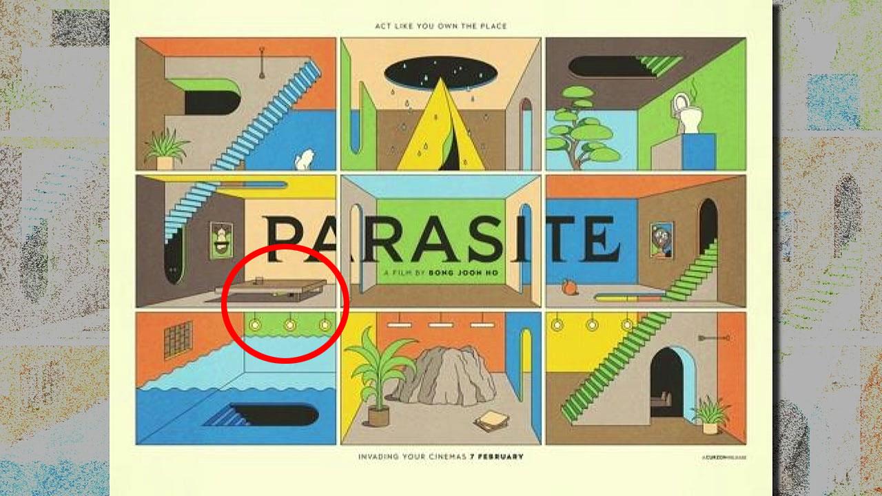 英 '기생충' 포스터에 나온 오스카 트로피