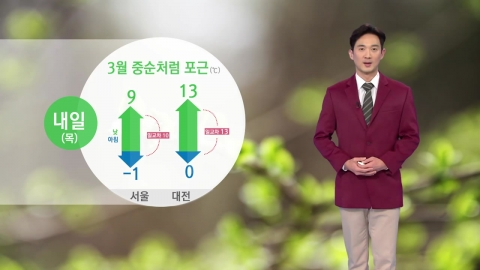 [날씨] 내일 오늘보다 기온 더 올라...큰 일교차 주의