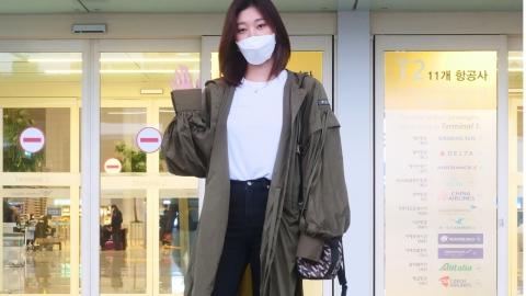 파리패션위크 참석 차 출국한 여연희! 시크한 공항패션 화제