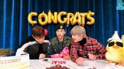 2PM 우영, 전역 기념 브이라이브 진행…닉쿤·준케이 깜짝 방문