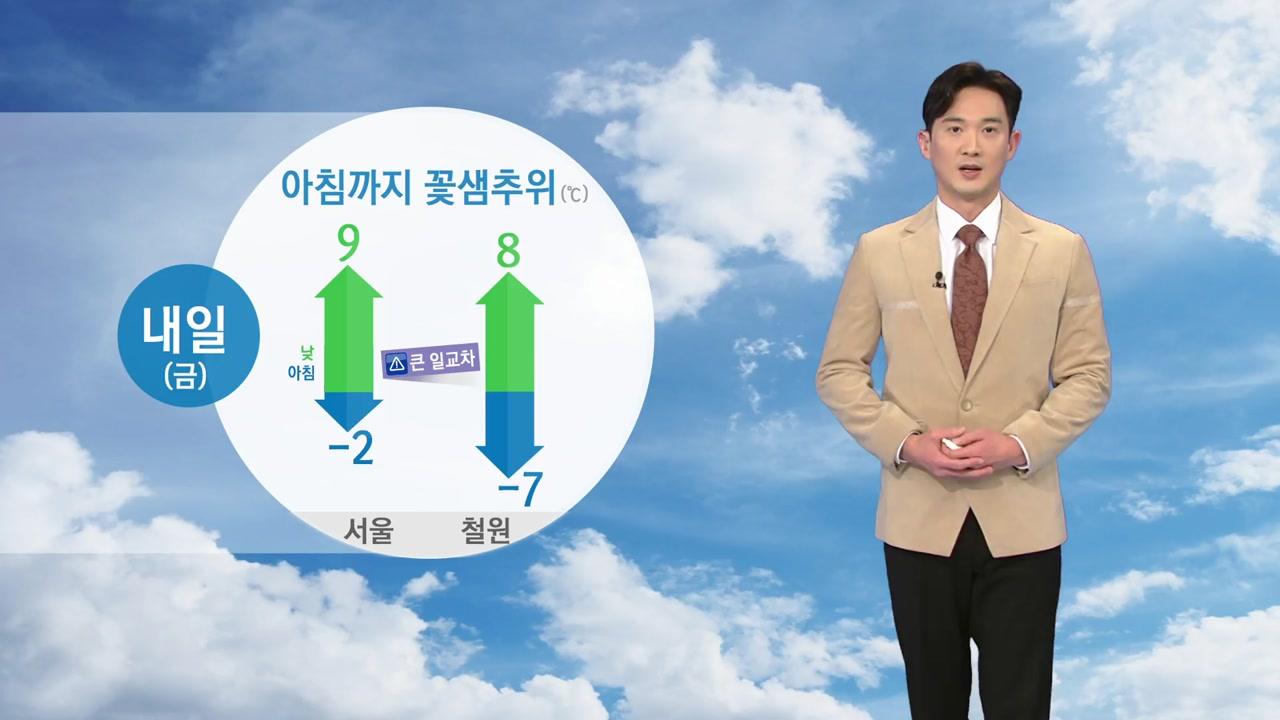 [날씨] 아침까지 꽃샘추위, 한낮 온화...큰 일교차 주의