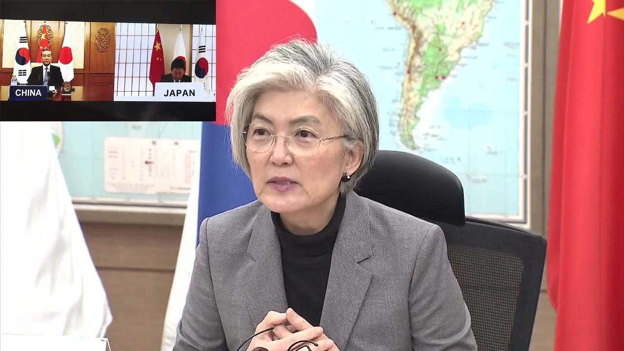 한중일 외교장관, 코로나19 대응 첫 화상회의