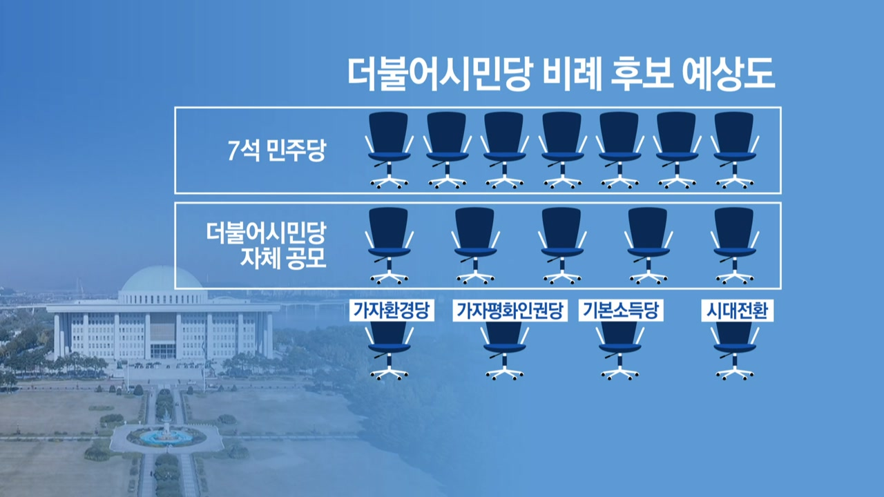"""민주당, 더불어시민당 후보 검증 개입...""""결국 친민주당 인사 공천"""""""