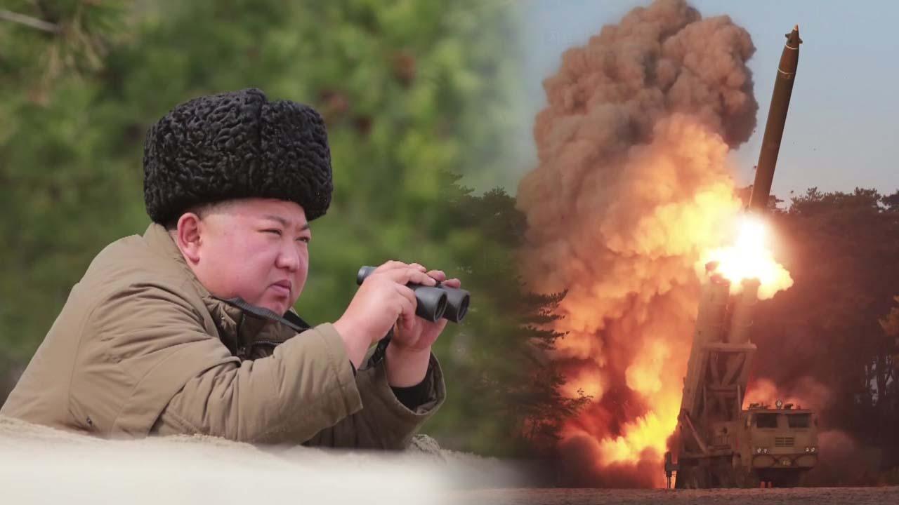 북, 단거리 탄도미사일 2발 발사...김정은, 이번엔 서부전선 군사행보
