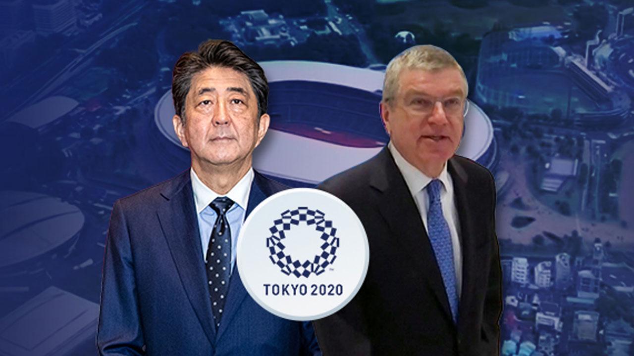 """아베-바흐 IOC위원장, 전화회담...""""도쿄올림픽 1년 연기에 의견 일치"""""""