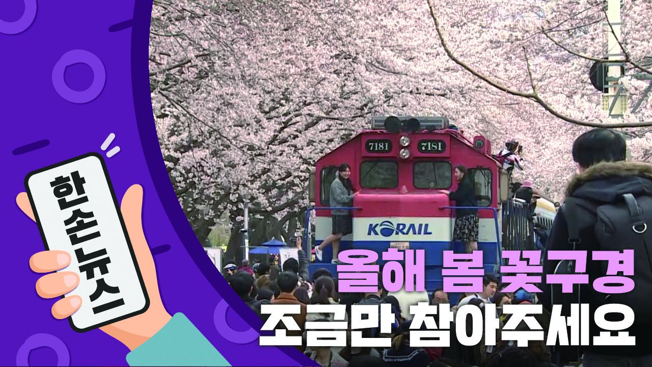 [N년전뉴스] 봄꽃 구경, 올해는 조금만 참아주세요