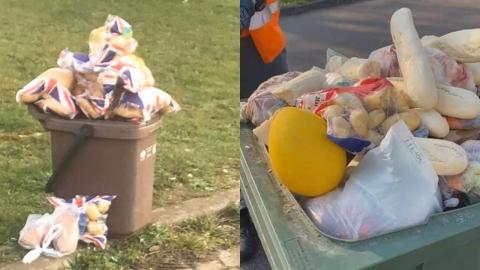 사재기 후폭풍…멀쩡한 식료품 포장된 채 버려져