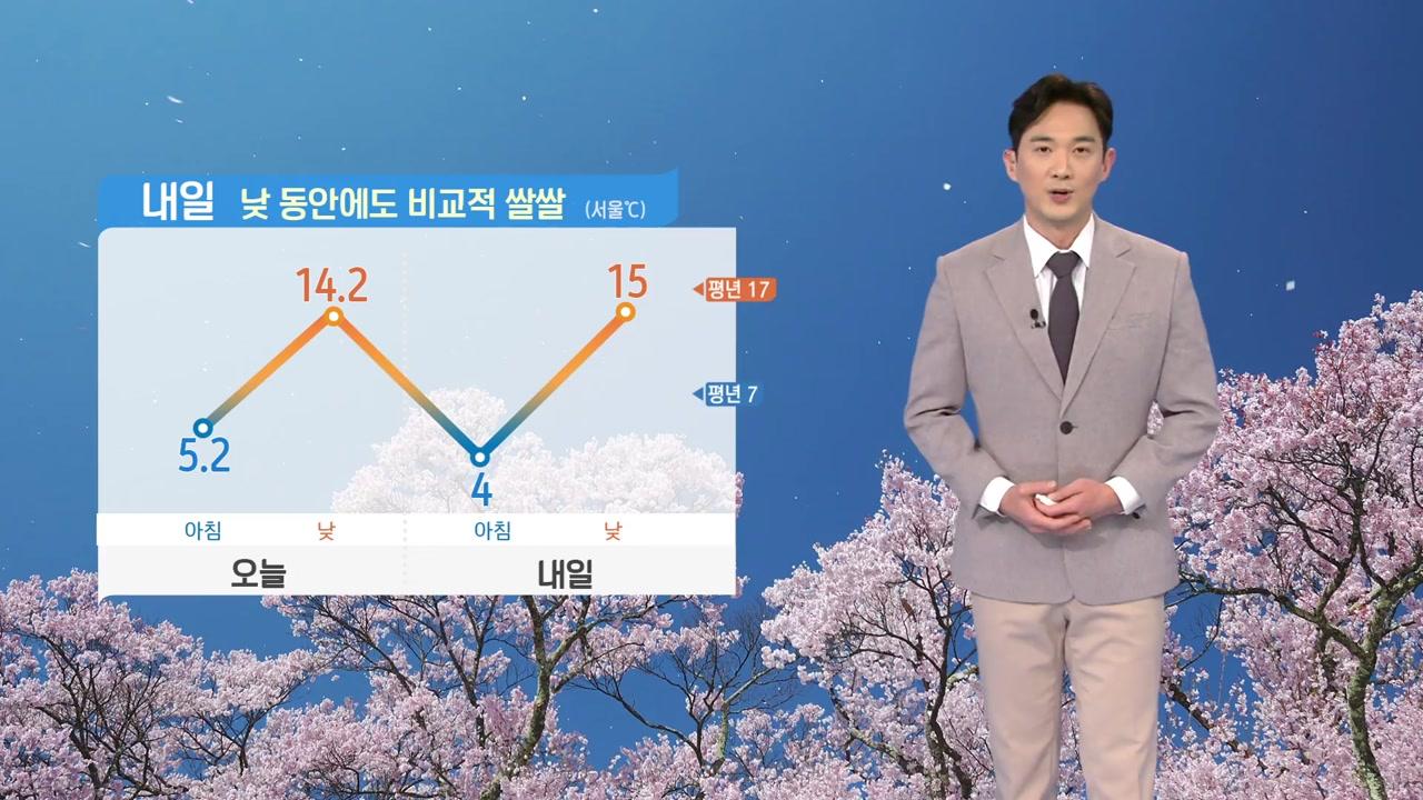 [날씨] 내일 낮 비교적 쌀쌀...대체로 맑은 하늘