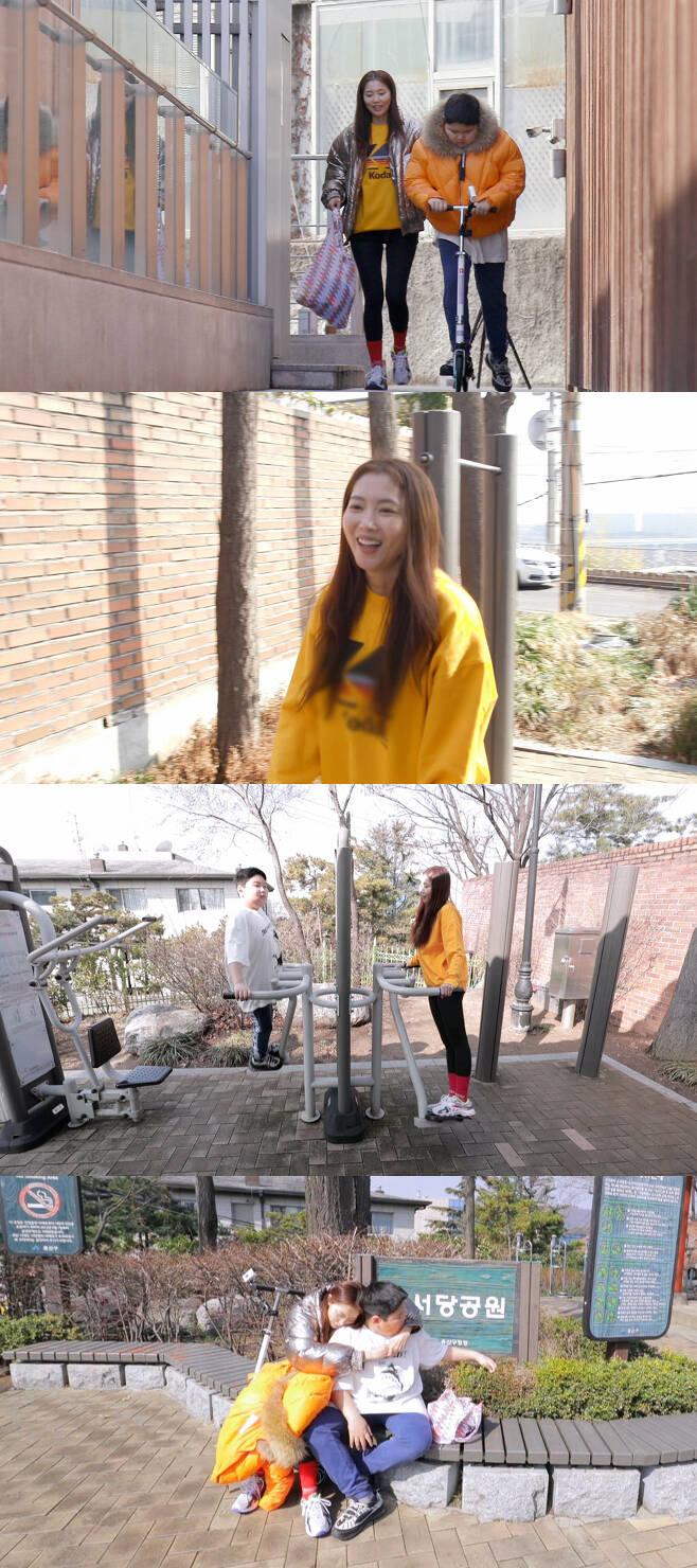 '편스토랑' 오윤아, 14살 아들과 다이어트 돌입...'패셔니스타'의 동네 운동