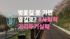 """[반나절] """"벚꽃길 통제? 옆길 가면 돼"""" 멀어지는 거리두기"""