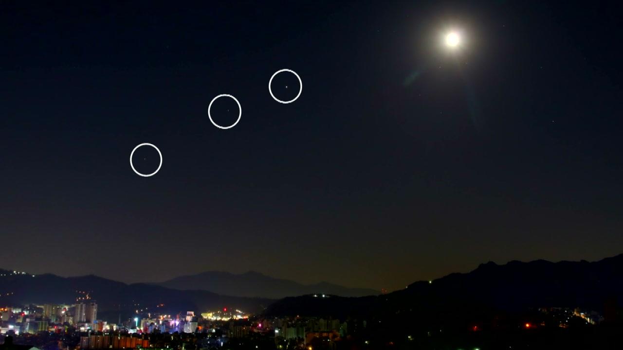 목성·토성·화성과 달의 새벽하늘 4중주