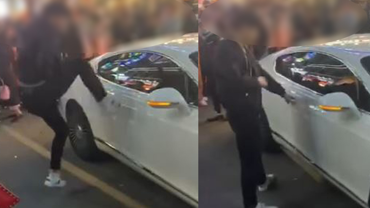 """벤틀리에 발길질한 남성 영상 퍼져...""""술 취해 기억 안나"""""""