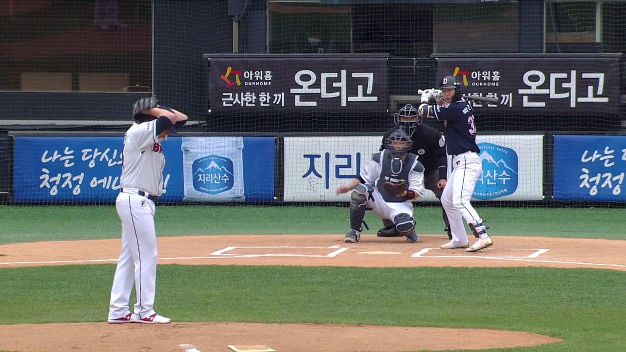'무관중' 야구 기지개...실전 같은 연습 경기