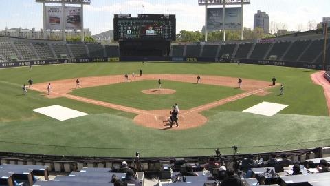 무관중 연습경기 개막...돌아온 '야구의 봄'
