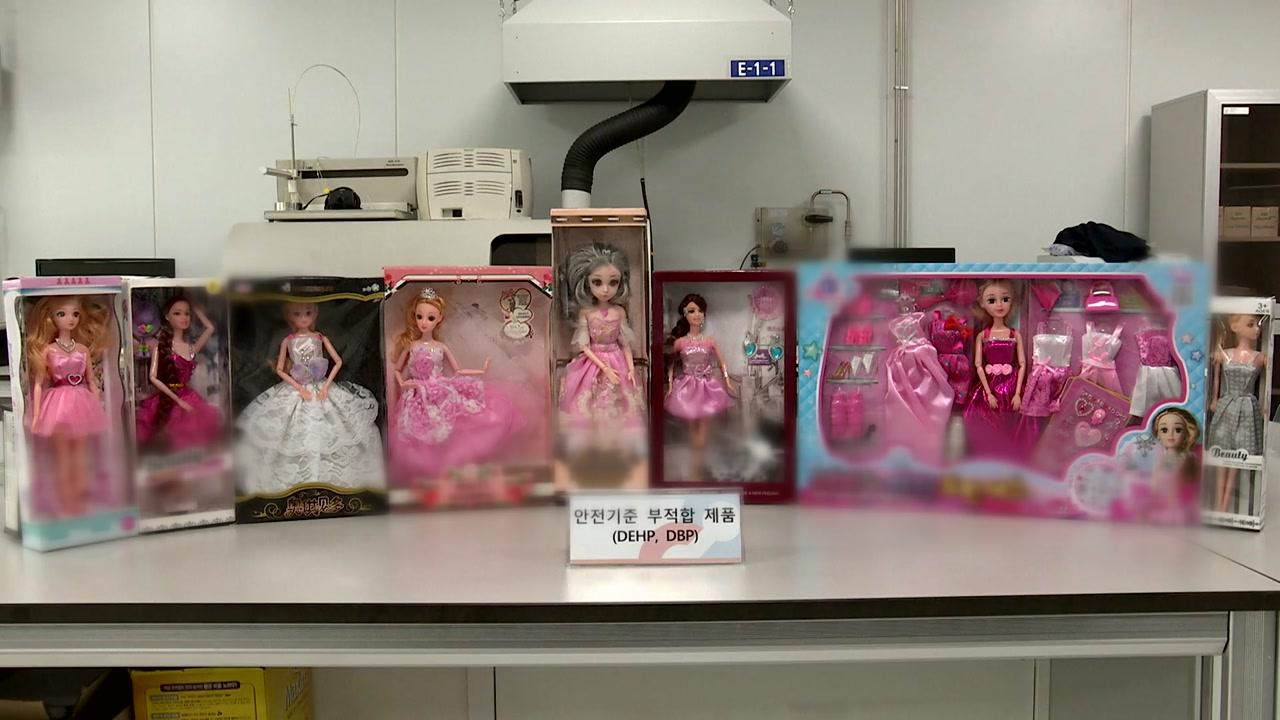 사람 모양 인형, 16개 중 9개에서 유해물질 검출