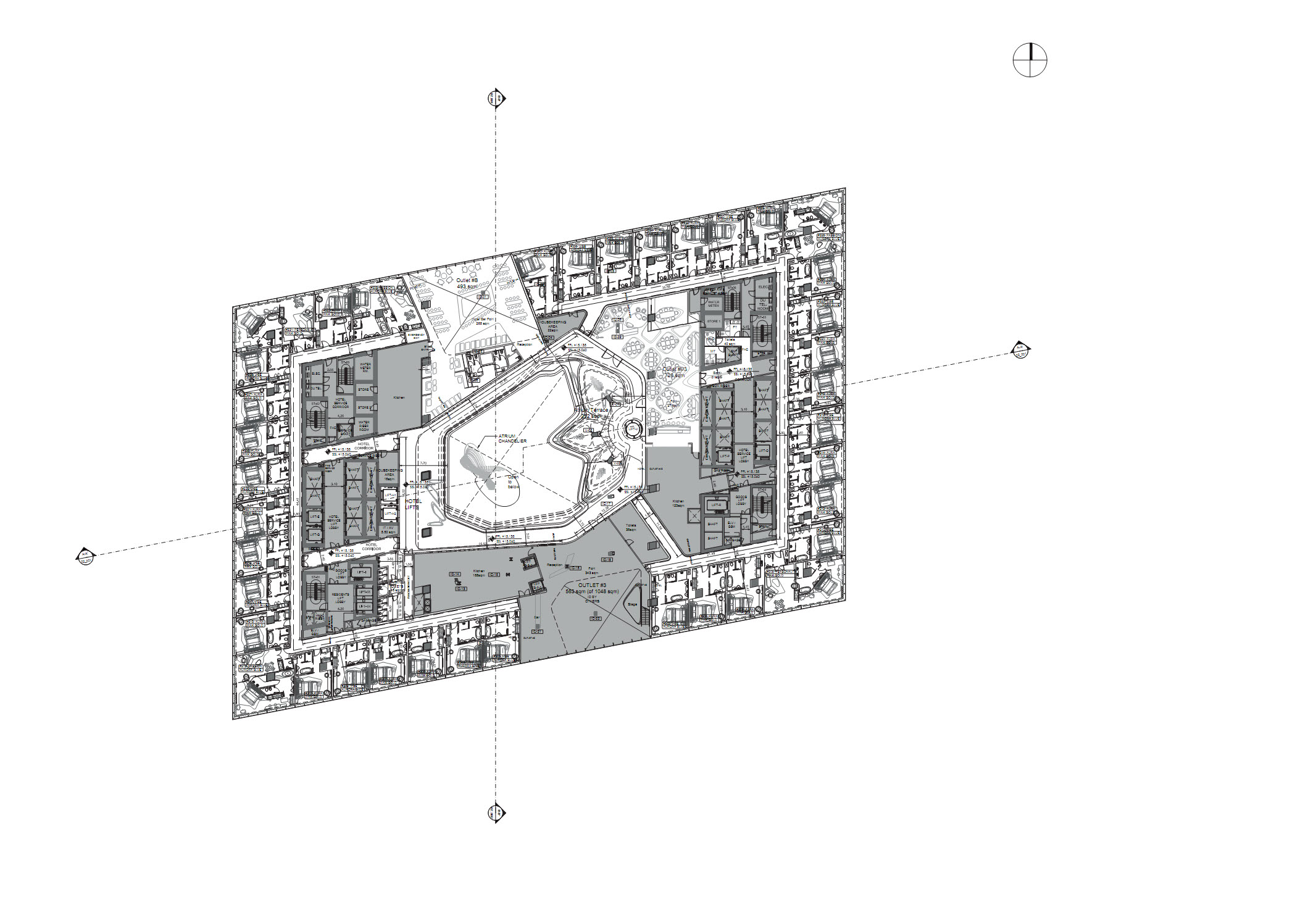 〔안정원의 건축 칼럼〕 굴곡진 자유형 보이드를 함유한 오퍼스의 ME 두바이 호텔 03.