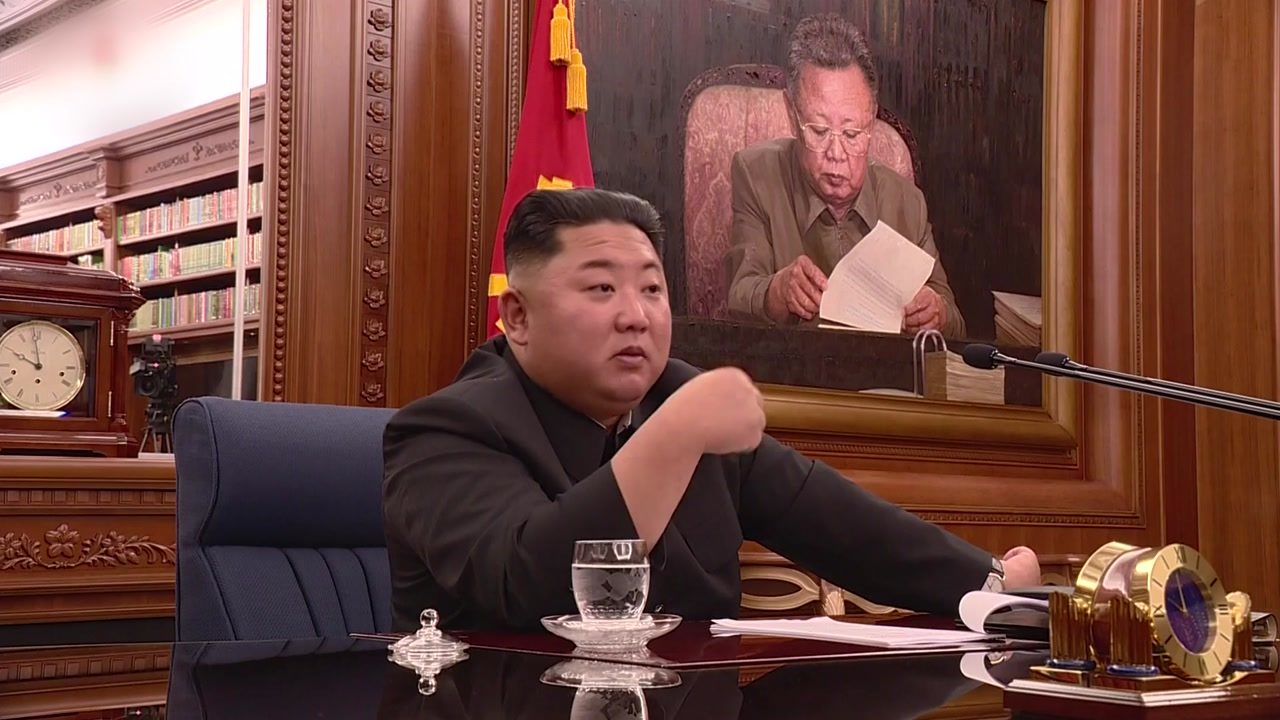 북한 김정은, 당 중앙군사위 확대회의 주재...핵 억제력 강화 논의