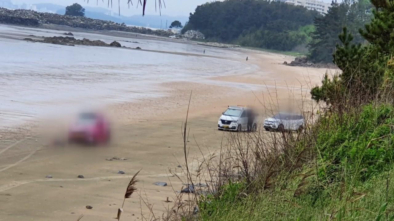 보령 해수욕장에서 후진하던 견인차에 50대 여성 숨져