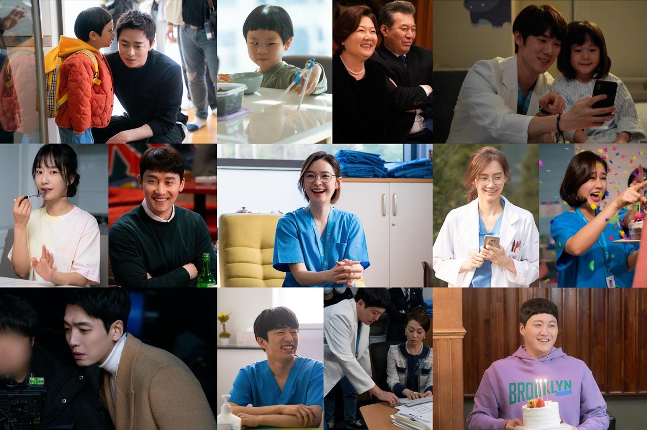 시즌1 종영 앞둔 '슬기로운 의사생활', 촬영장 비하인드 사진 공개