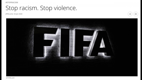 """""""징계 대신 박수를""""…FIFA, '플로이드 사태' 지지 성명"""