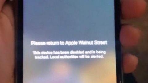 """""""추적하고 있다"""" 약탈당한 아이폰에 경고 보내는 애플"""