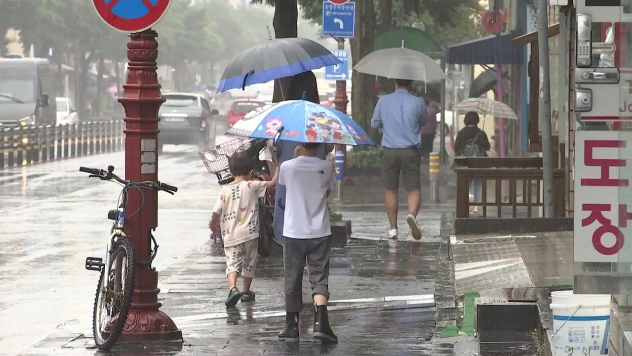 [날씨] 흐리고 곳곳 장맛비...낮 동안 후텁지근