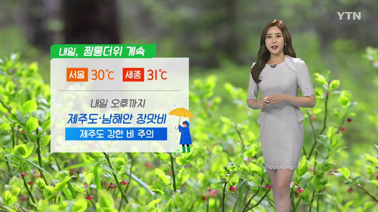 [날씨] 내일도 찜통더위 계속...오후까지 제주도·남해안 장맛비