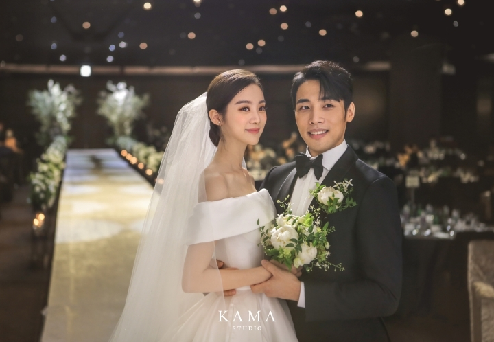 우혜림♥신민철, 축복 속 결혼...본식 사진 공개