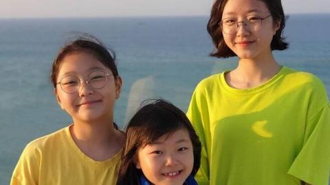 """'정웅인 세 딸' 세윤·소윤·다윤, 폭풍 성장 근황 """"아빠 판박이"""""""