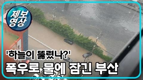 [제보영상] 부산 '물 폭탄' 피해 속출