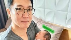 '득남' 신동진 아나운서, 늦둥이 아빠 육아 공개