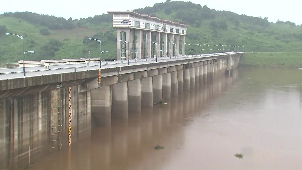 北, 임진강 상류 댐 수문 3차례 개방...군남댐 방류 계속
