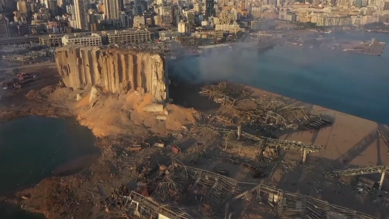 레바논 베이루트 대폭발 참사...백여 명 사망·4천 명 부상