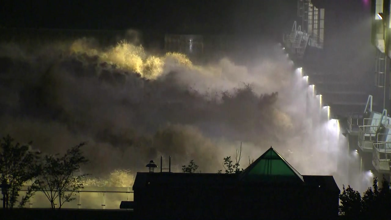 임진강 홍수조절 군남댐 역대 최고 수위 기록