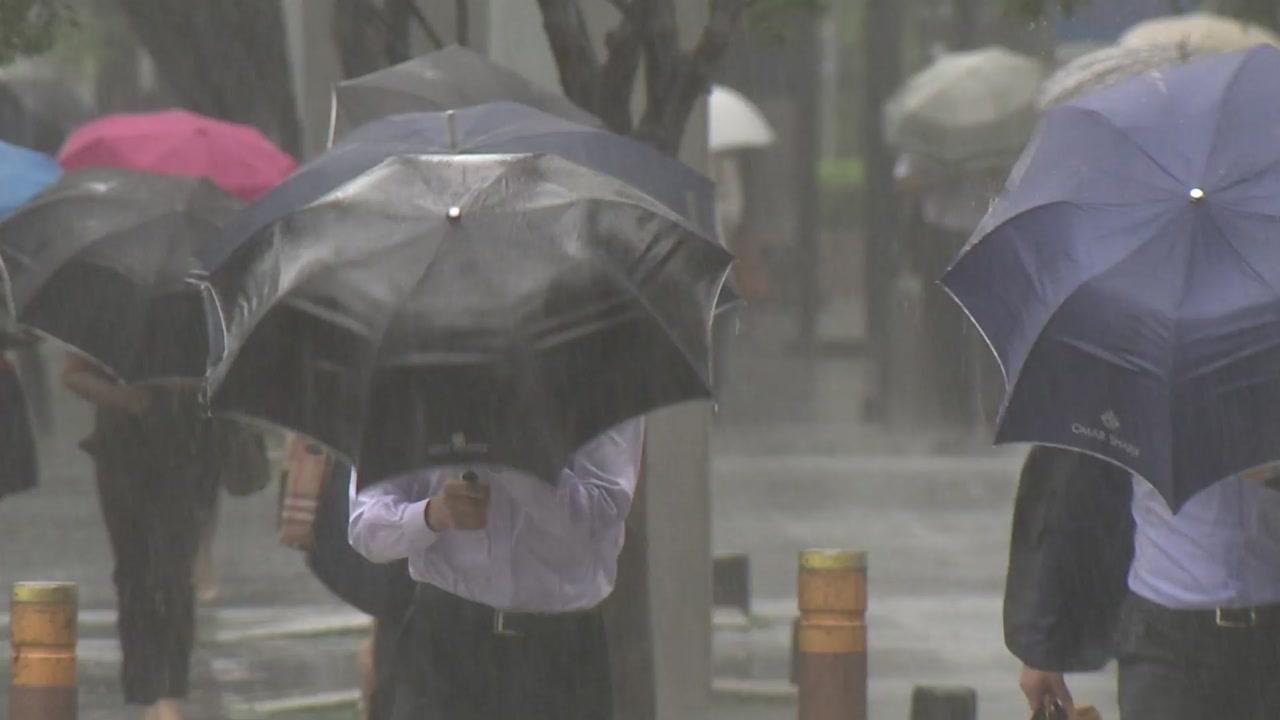 [날씨] 중북부 밤사이 집중호우...태풍 '장미' 북상 중