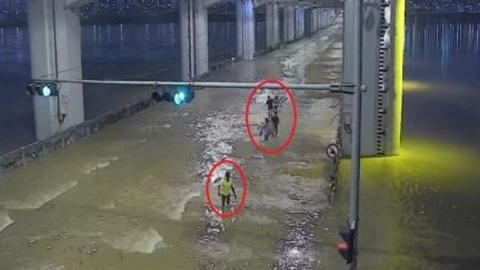 잠수교에 고립됐던 외국인 학생 5명 CCTV 덕분에 구조돼