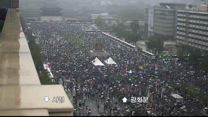 경찰청 실시간 CCTV로 본 광복절 광화문 집회 모습