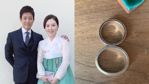 """하희라, 최수종과 결혼 25주년 반지 공개 """"항상 꼈더니 타원형으로 변해"""
