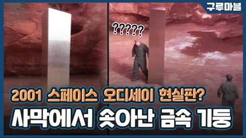 [구루마블] '외계인이 놓고 갔나?' 사막 한복판에서 발견된 금속 기둥