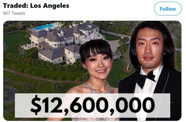 조선 왕실 후손, LA서 138억원 대저택 매입