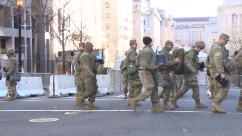 바이든, 취임 하루 앞 워싱턴 입성…길목마다 병력 배치