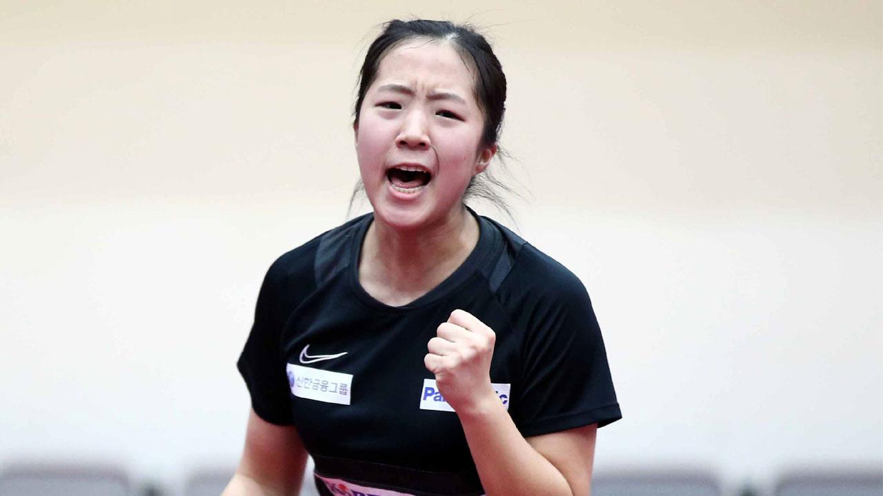 '탁구신동' 신유빈, 최연소 올림픽 대표 예약